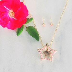 ❤ 4 for $25 ❤ #1003 Gold Star Set Necklace Earring